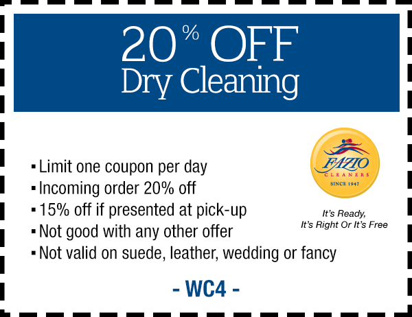 Fazio Cleaners Coupon Sherman Oaks CA