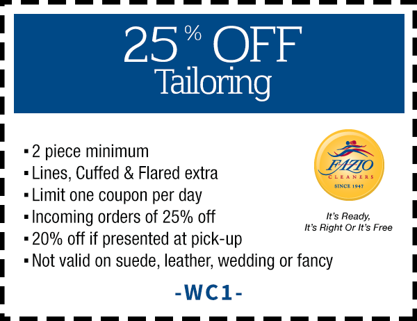 Fazio Cleaners Coupon Calabasas CA