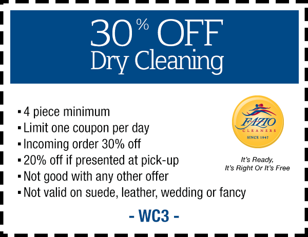 Fazio Cleaners Coupon Los Angeles CA